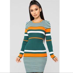 Fashion Nova Struttin' Side to Side Sweater Dress